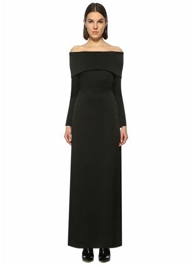 Kayık Yaka Yırtmaçlı Uzun Elbise-Theory